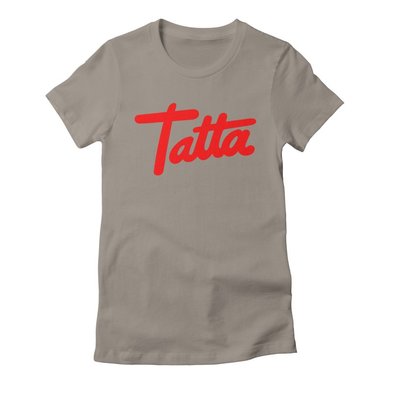Tatta red Women's Fitted T-Shirt by WHADDUPANDA BODEGA