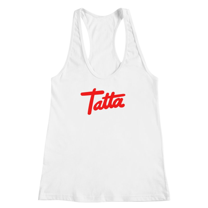 Tatta red Women's Racerback Tank by WHADDUPANDA BODEGA