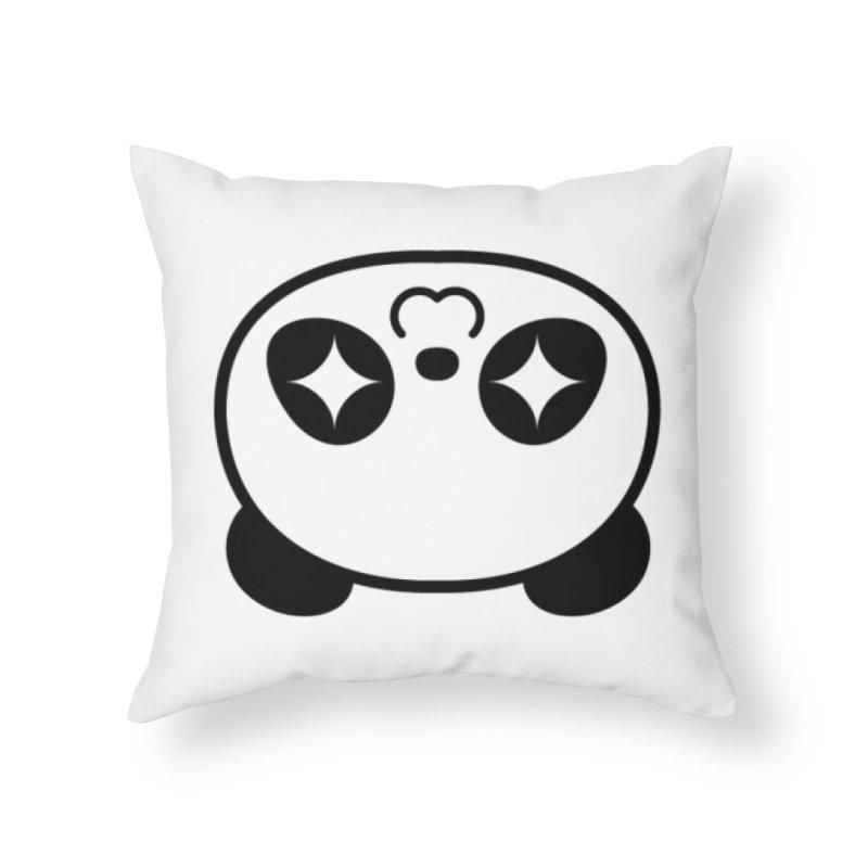 Drunk Panda Home Throw Pillow by WHADDUPANDA BODEGA
