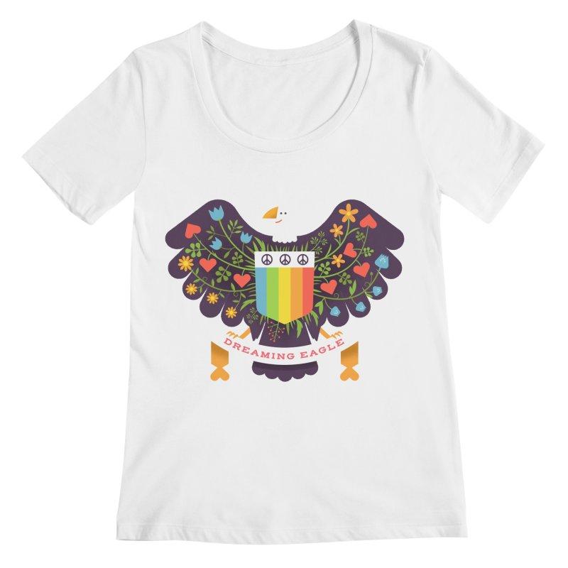 Dreaming Eagle Women's Scoopneck by wharton's Artist Shop