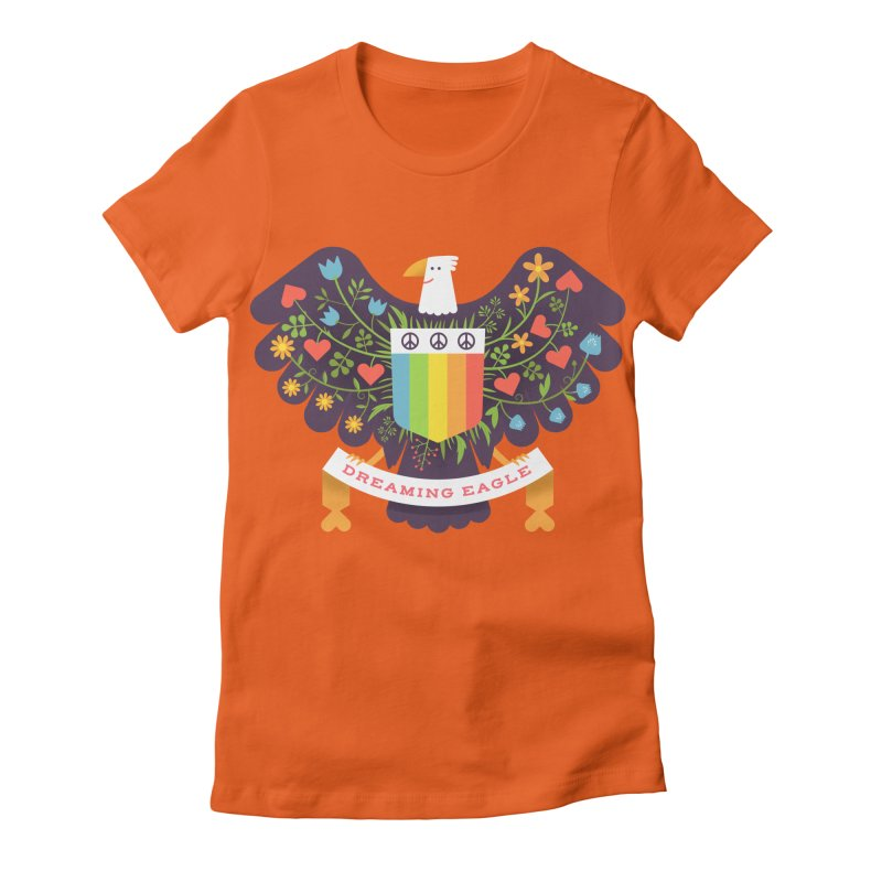Dreaming Eagle Women's Fitted T-Shirt by wharton's Artist Shop