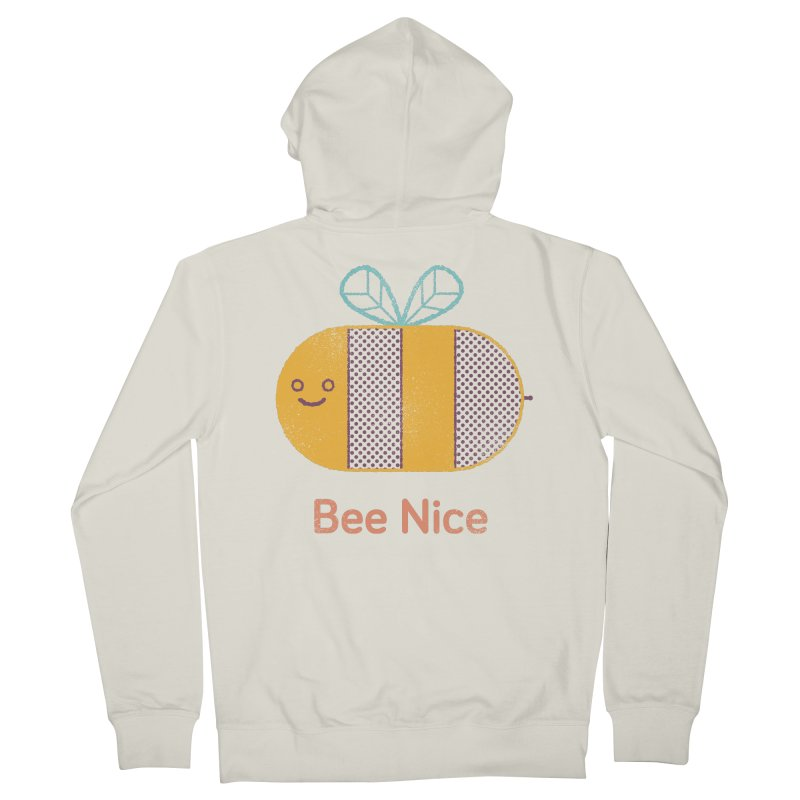 Bee Nice Women's Zip-Up Hoody by wharton's Artist Shop