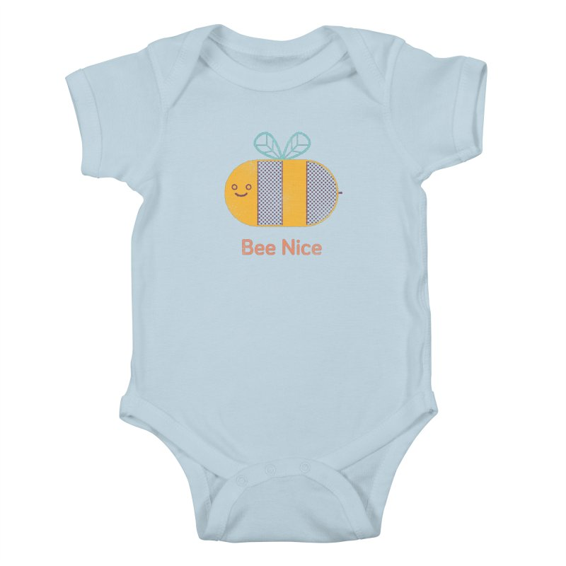 Bee Nice Kids Baby Bodysuit by wharton's Artist Shop
