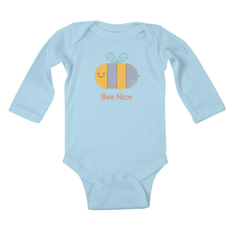 Bee Nice Kids Baby Longsleeve Bodysuit by wharton's Artist Shop