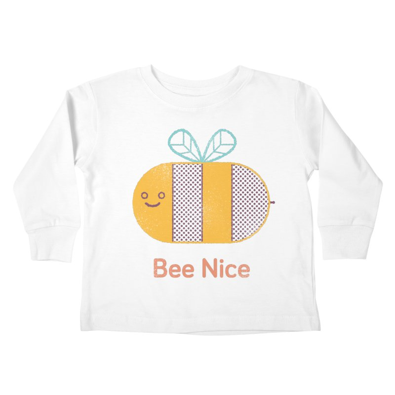 Bee Nice Kids Toddler Longsleeve T-Shirt by wharton's Artist Shop