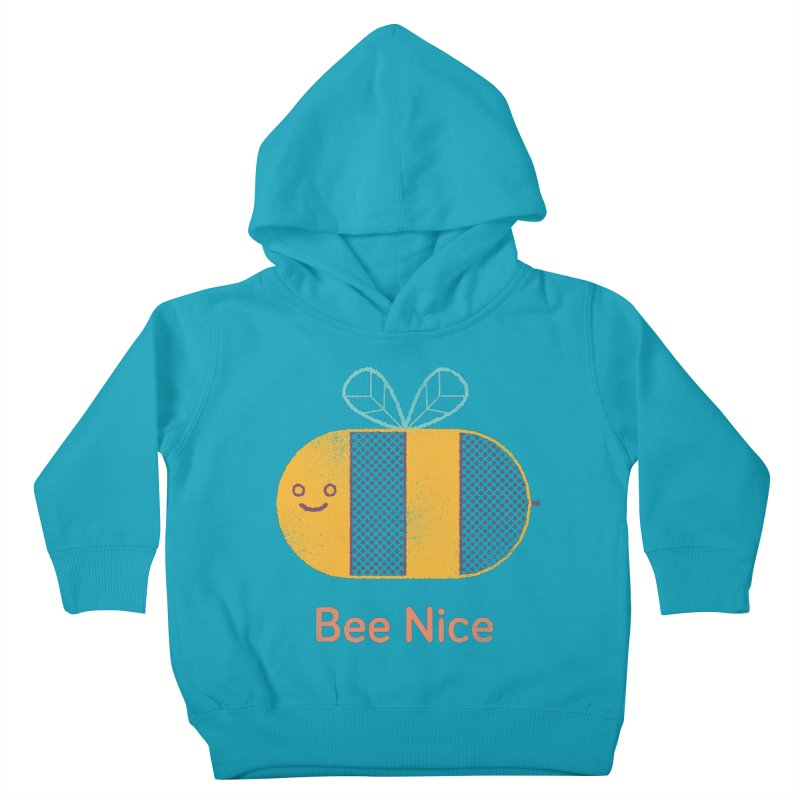 Bee Nice Kids Toddler Pullover Hoody by wharton's Artist Shop