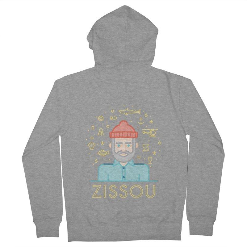 Zissou Men's Zip-Up Hoody by wharton's Artist Shop