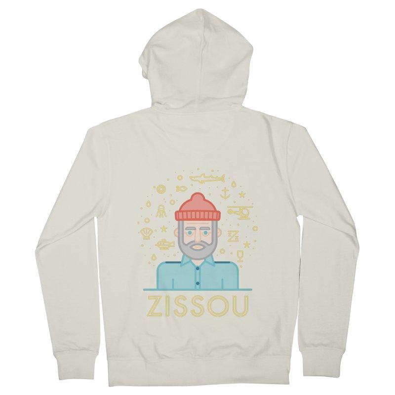 Zissou Men's French Terry Zip-Up Hoody by wharton's Artist Shop