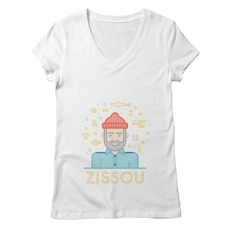 Zissou Women's Regular V-Neck by wharton's Artist Shop