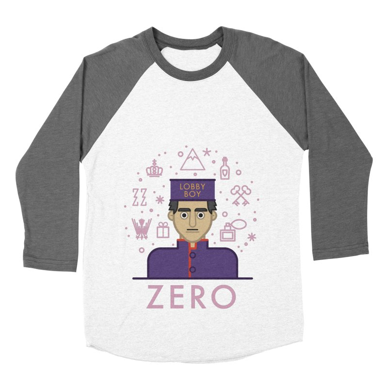 Zero Men's Baseball Triblend Longsleeve T-Shirt by wharton's Artist Shop