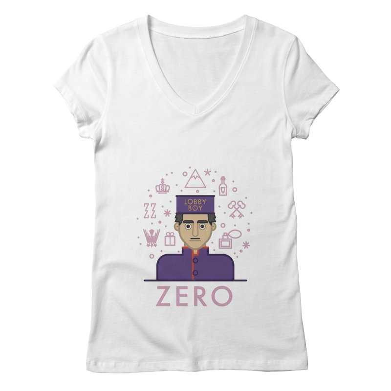 Zero Women's Regular V-Neck by wharton's Artist Shop