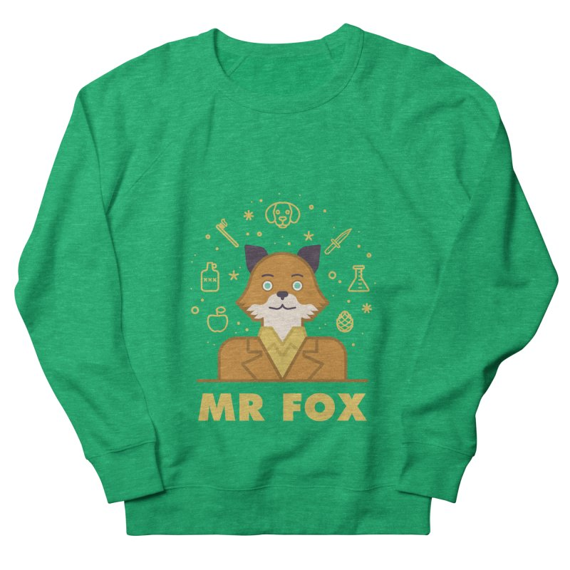 Fantastic Mr Fox Men's French Terry Sweatshirt by wharton's Artist Shop