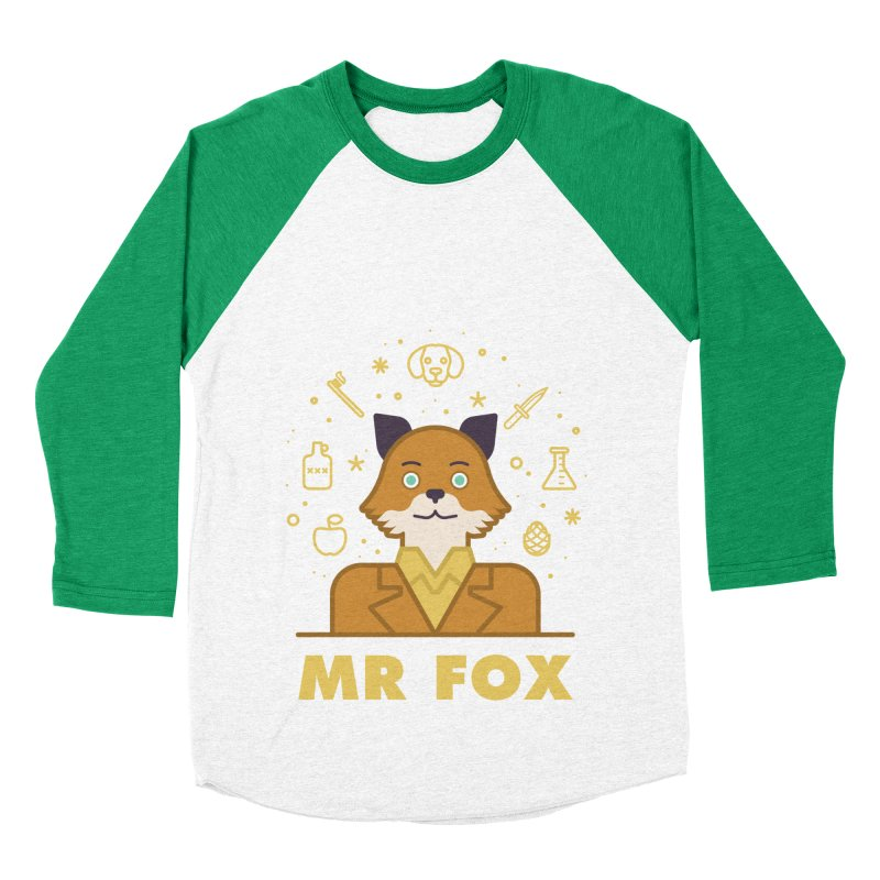 Fantastic Mr Fox Men's Baseball Triblend Longsleeve T-Shirt by wharton's Artist Shop