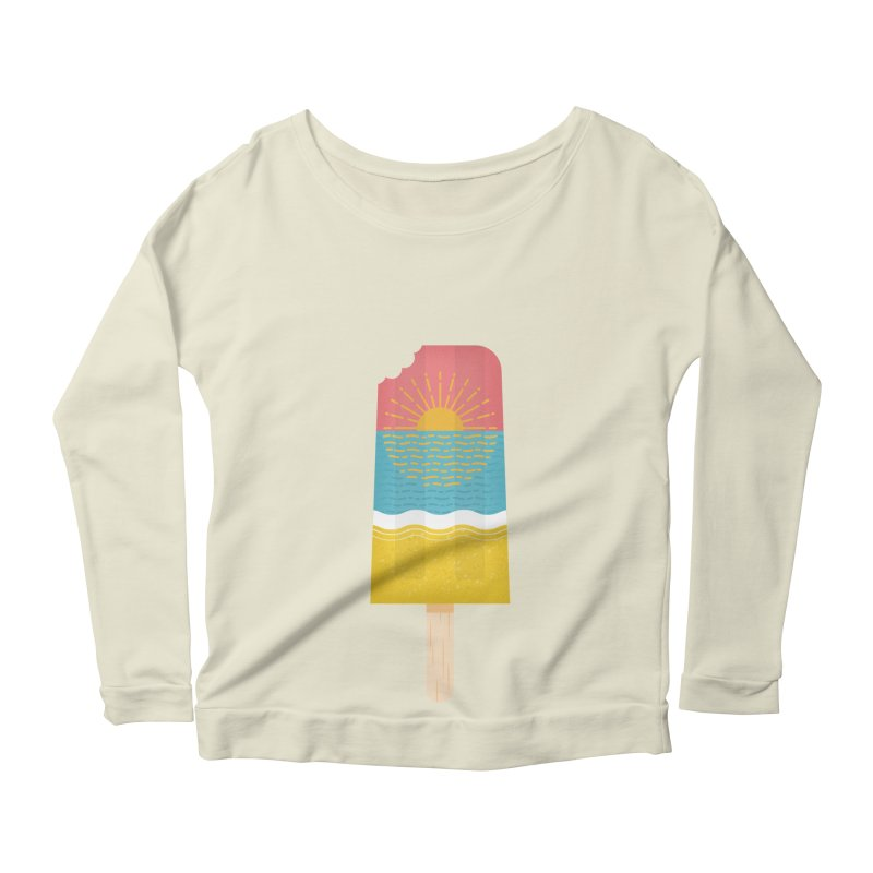 Popsicle Sunset Women's Scoop Neck Longsleeve T-Shirt by wharton's Artist Shop