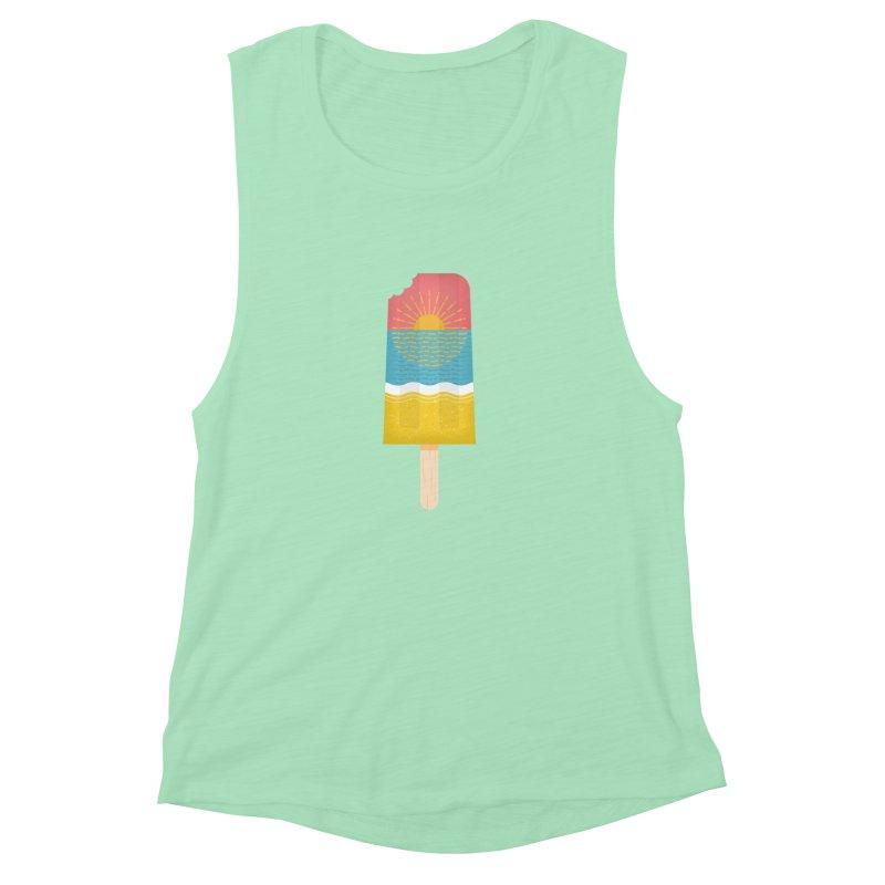 Popsicle Sunset Women's Muscle Tank by wharton's Artist Shop