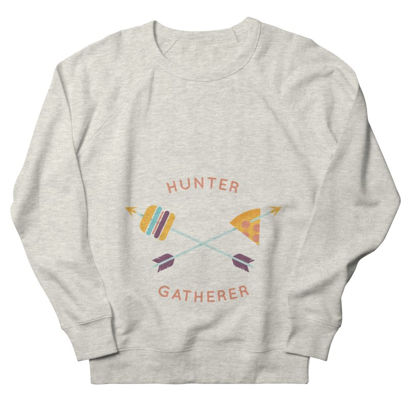 Hunter Gatherer Men's French Terry Sweatshirt by wharton's Artist Shop