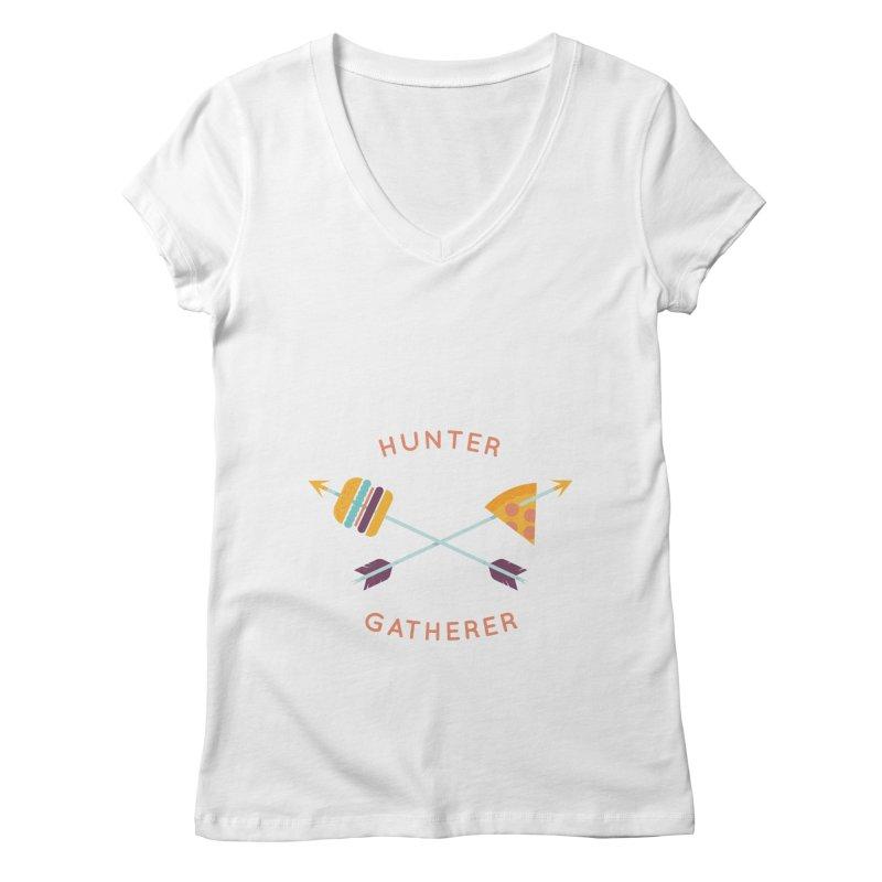 Hunter Gatherer Women's V-Neck by wharton's Artist Shop