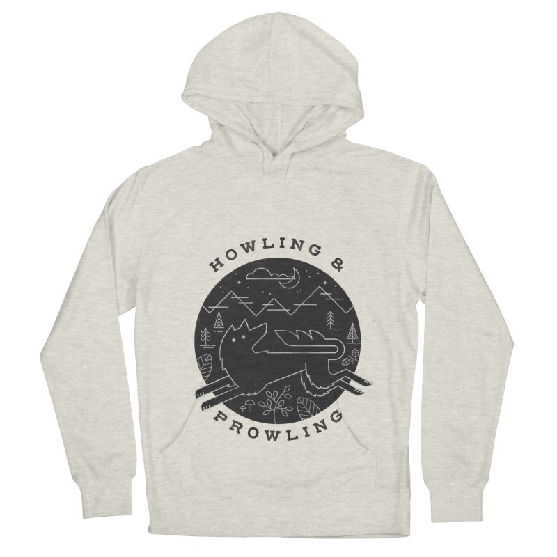 Howling & Prowling Men's French Terry Pullover Hoody by wharton's Artist Shop