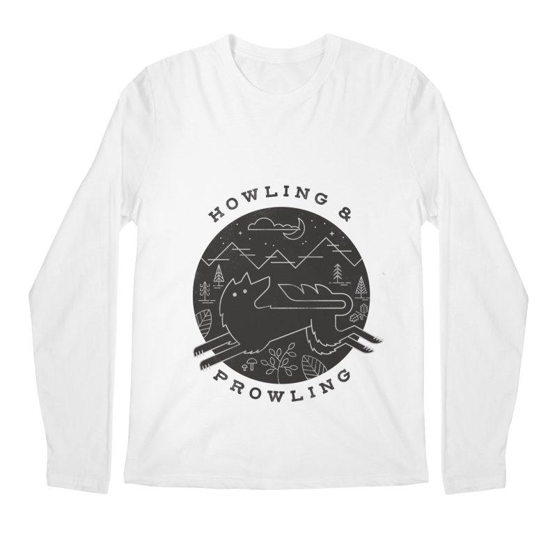Howling & Prowling Men's Regular Longsleeve T-Shirt by wharton's Artist Shop
