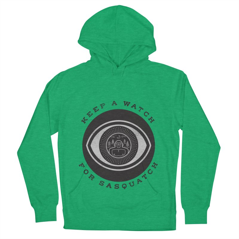 Keep a watch for sasquatch Women's French Terry Pullover Hoody by wharton's Artist Shop