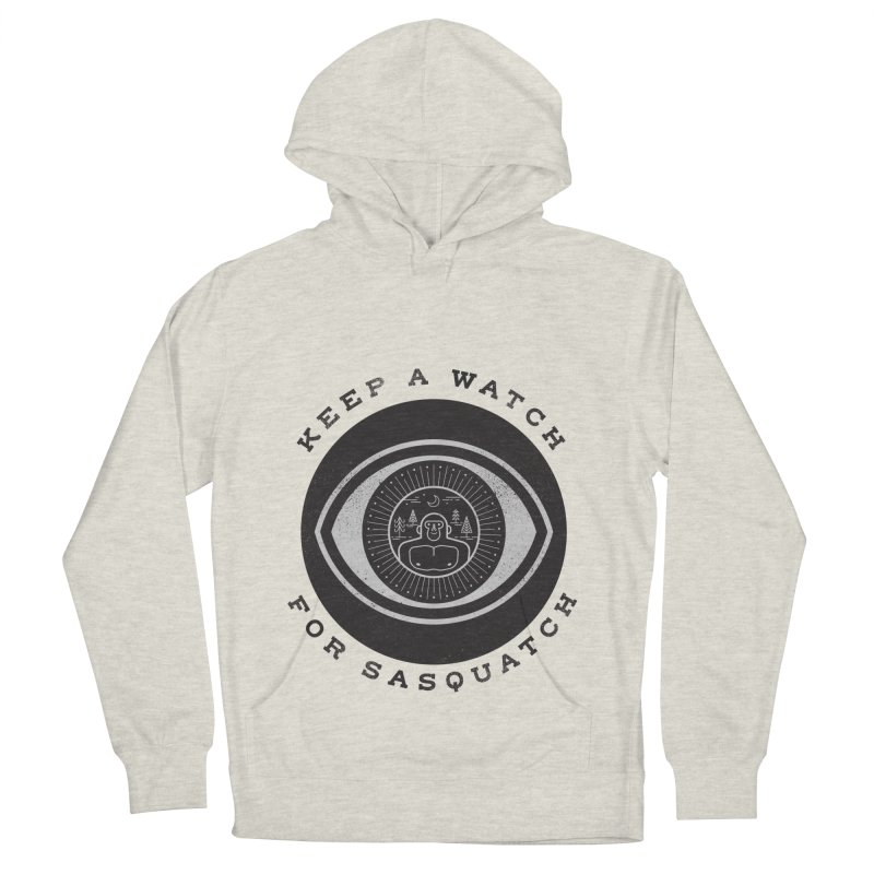Keep a watch for sasquatch Men's Pullover Hoody by wharton's Artist Shop