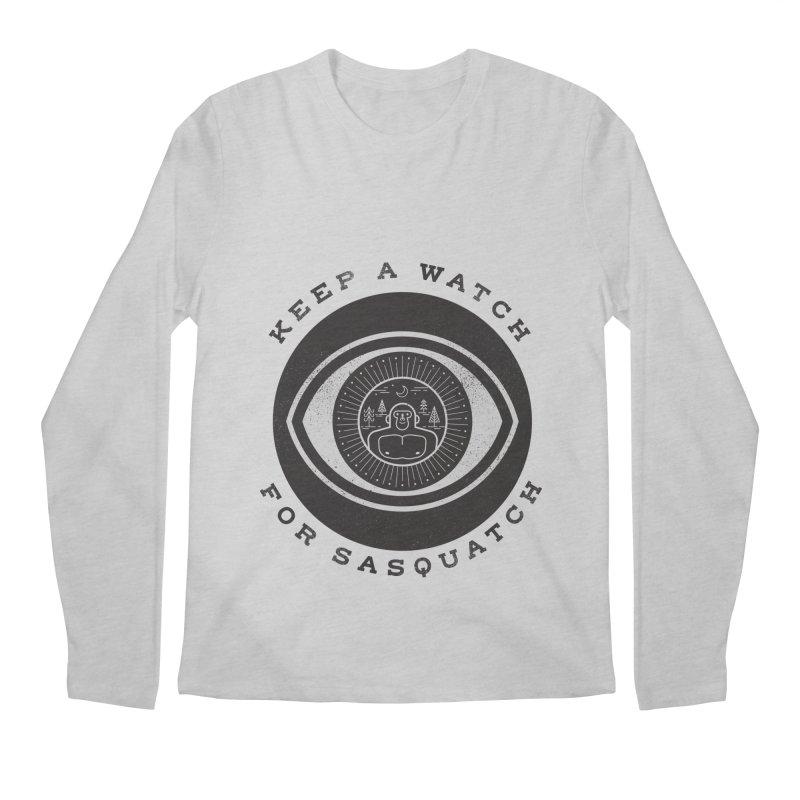 Keep a watch for sasquatch Men's Longsleeve T-Shirt by wharton's Artist Shop