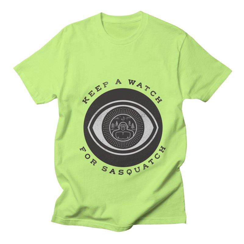 Keep a watch for sasquatch Women's Unisex T-Shirt by wharton's Artist Shop