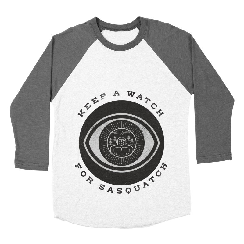 Keep a watch for sasquatch Men's Baseball Triblend Longsleeve T-Shirt by wharton's Artist Shop