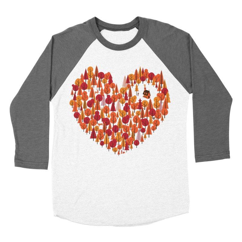 Wild at Heart Men's Baseball Triblend T-Shirt by wharton's Artist Shop