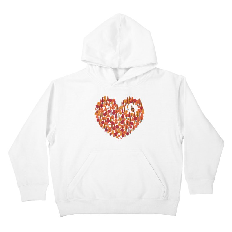 Wild at Heart Kids Pullover Hoody by wharton's Artist Shop