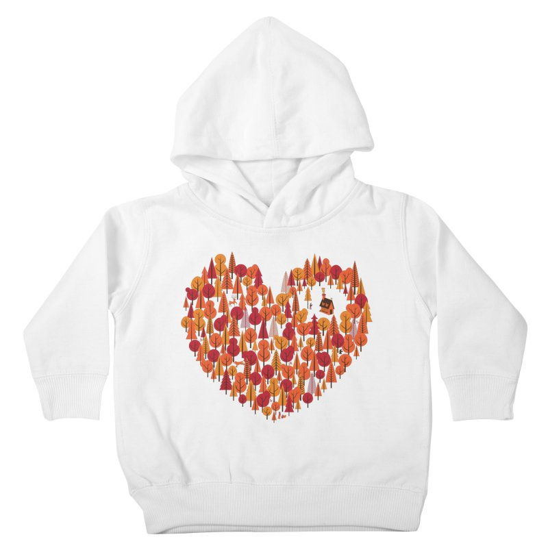 Wild at Heart Kids Toddler Pullover Hoody by wharton's Artist Shop