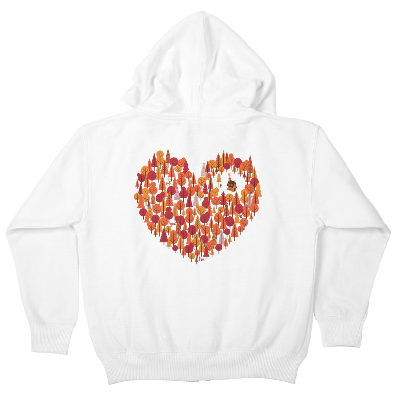 Wild at Heart Kids Zip-Up Hoody by wharton's Artist Shop