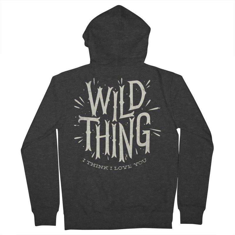Wild Thing Men's Zip-Up Hoody by wharton's Artist Shop