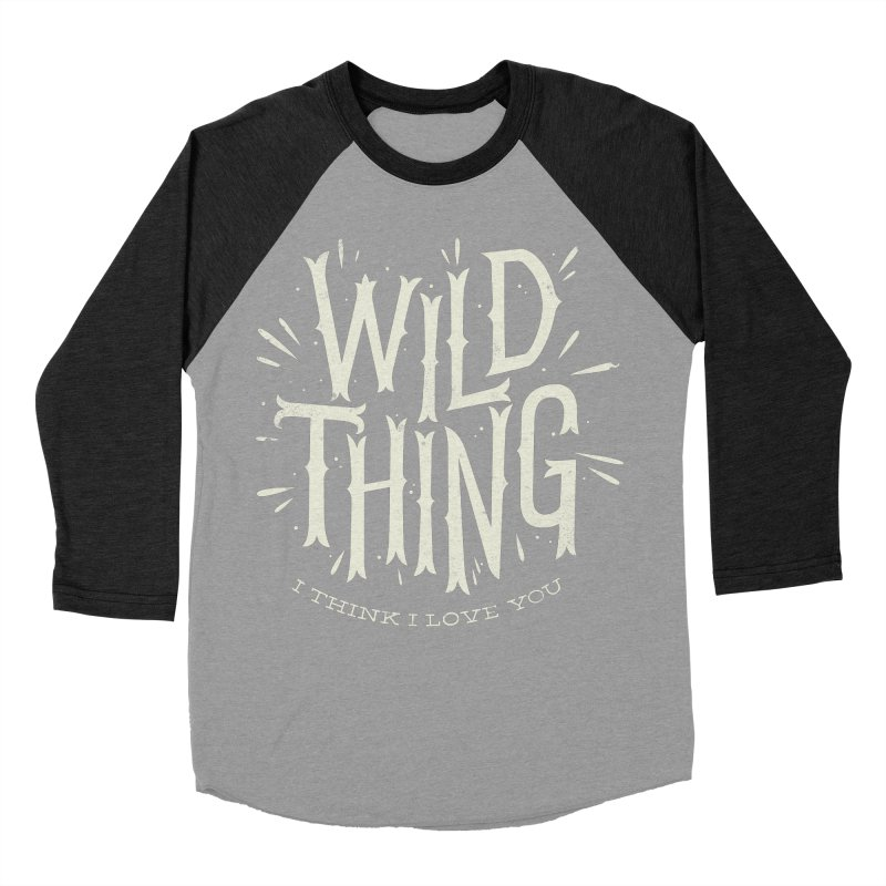 Wild Thing Men's Baseball Triblend T-Shirt by wharton's Artist Shop