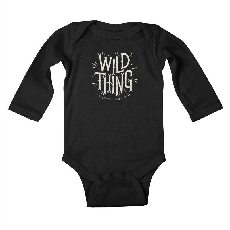 Wild Thing Kids Baby Longsleeve Bodysuit by wharton's Artist Shop