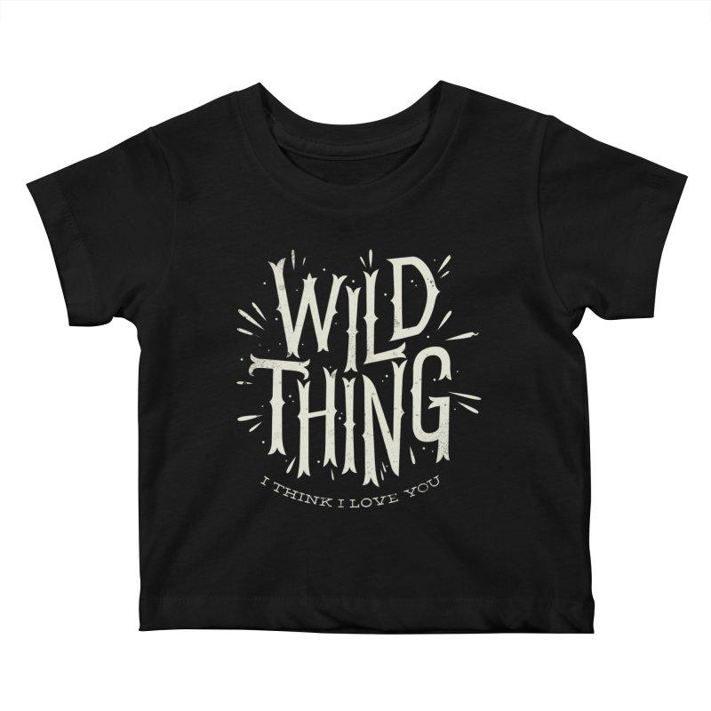 Wild Thing Kids Baby T-Shirt by wharton's Artist Shop