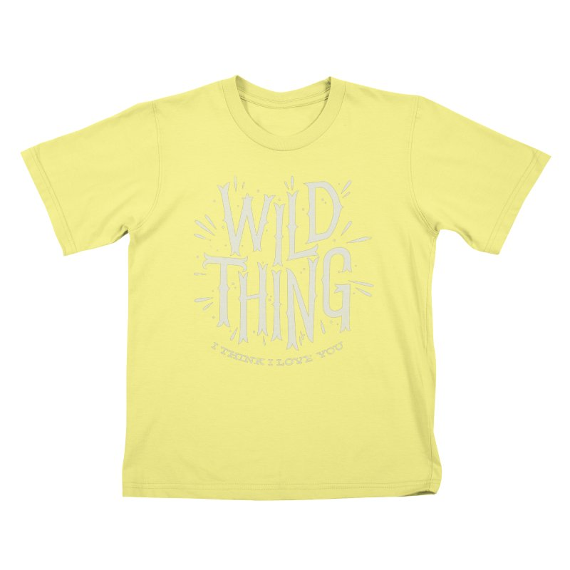 Wild Thing Kids T-shirt by wharton's Artist Shop
