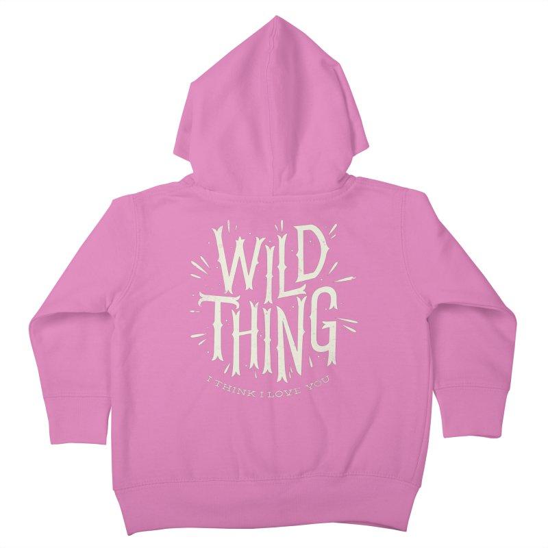 Wild Thing Kids Toddler Zip-Up Hoody by wharton's Artist Shop