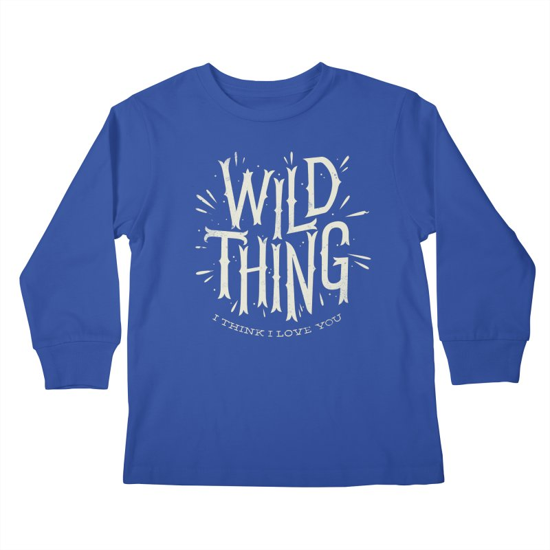 Wild Thing Kids Longsleeve T-Shirt by wharton's Artist Shop
