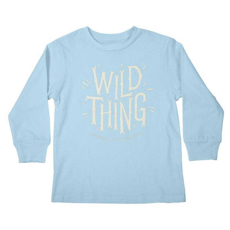 Wild Thing Kids Longsleeve T-Shirt by wharton's Artist Shop