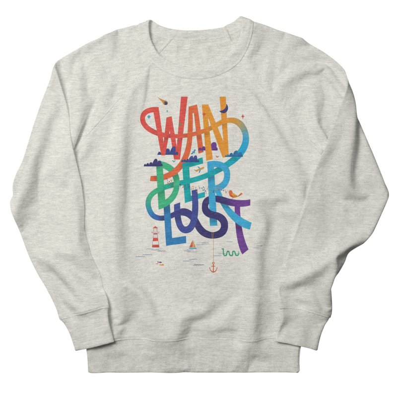 Wanderlust Men's Sweatshirt by wharton's Artist Shop