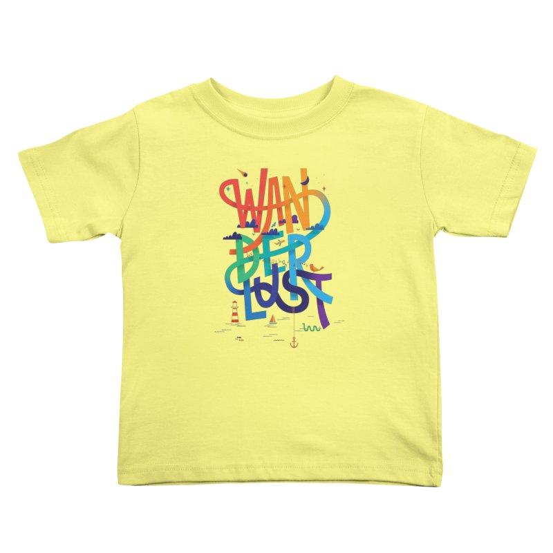 Wanderlust Kids Toddler T-Shirt by wharton's Artist Shop
