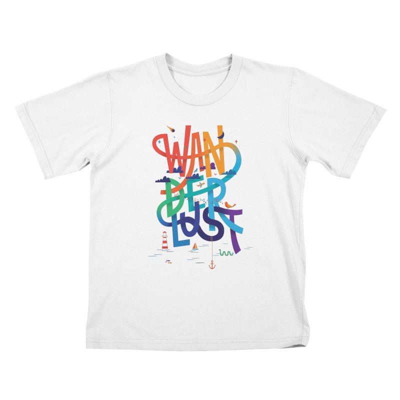 Wanderlust Kids T-Shirt by wharton's Artist Shop