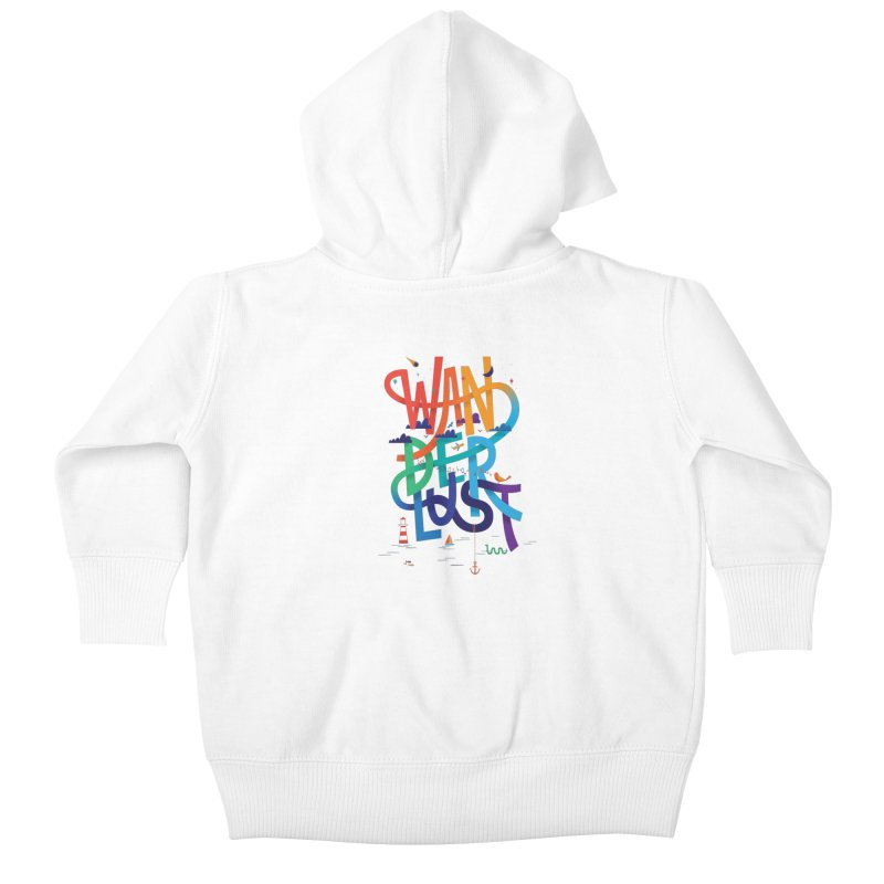 Wanderlust Kids Baby Zip-Up Hoody by wharton's Artist Shop