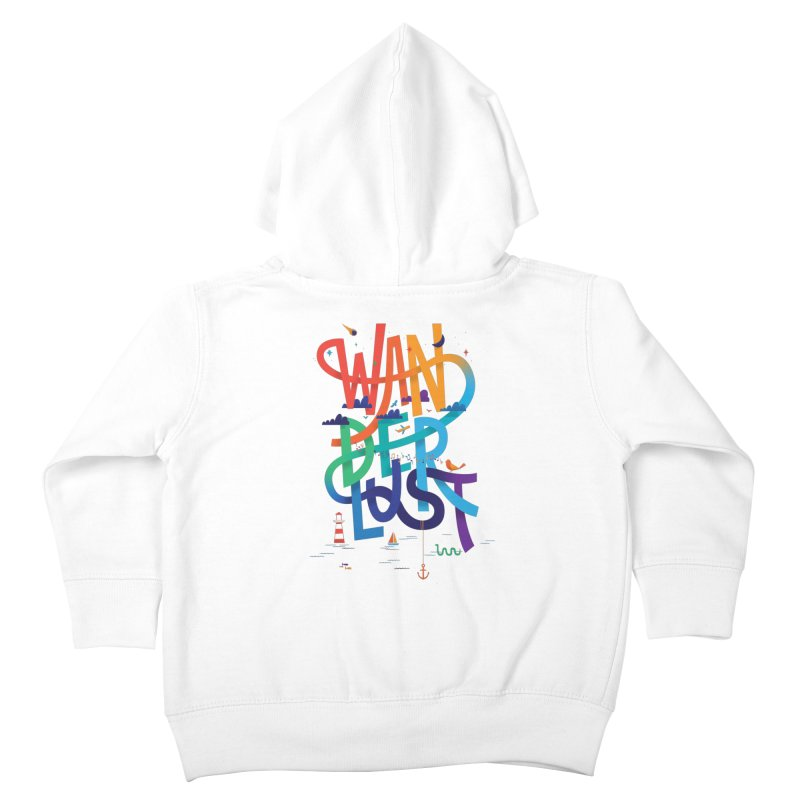 Wanderlust Kids Toddler Zip-Up Hoody by wharton's Artist Shop