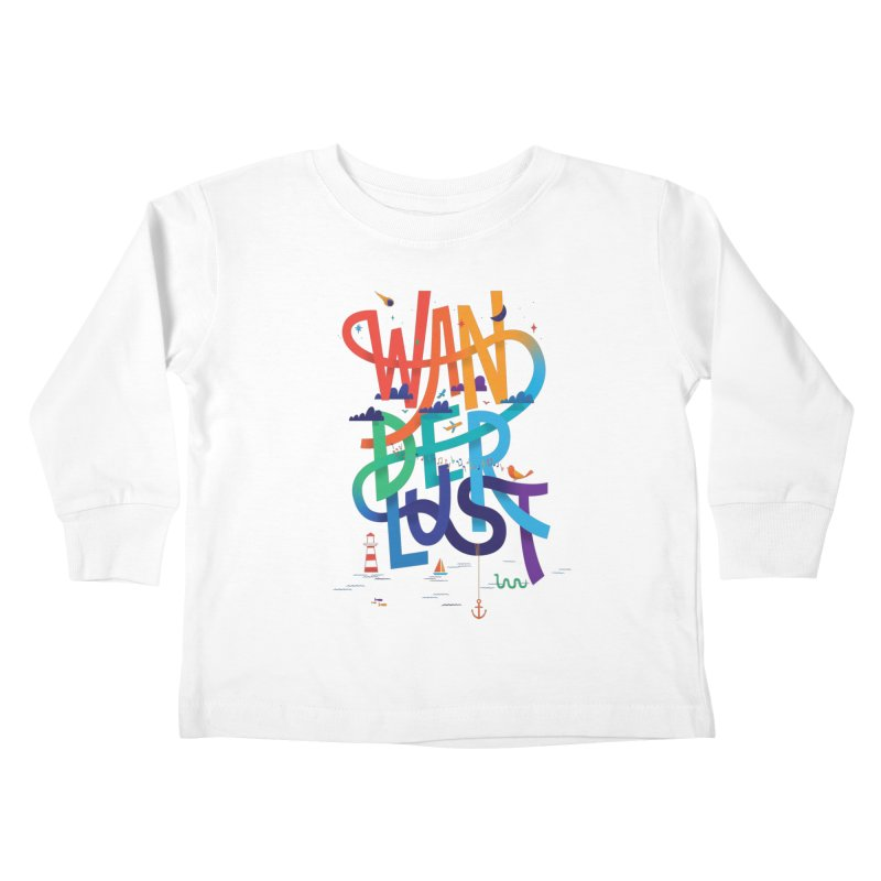 Wanderlust Kids Toddler Longsleeve T-Shirt by wharton's Artist Shop