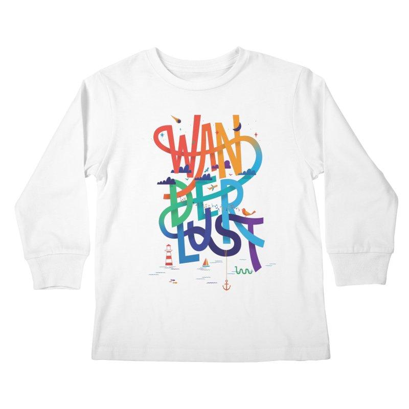 Wanderlust Kids Longsleeve T-Shirt by wharton's Artist Shop