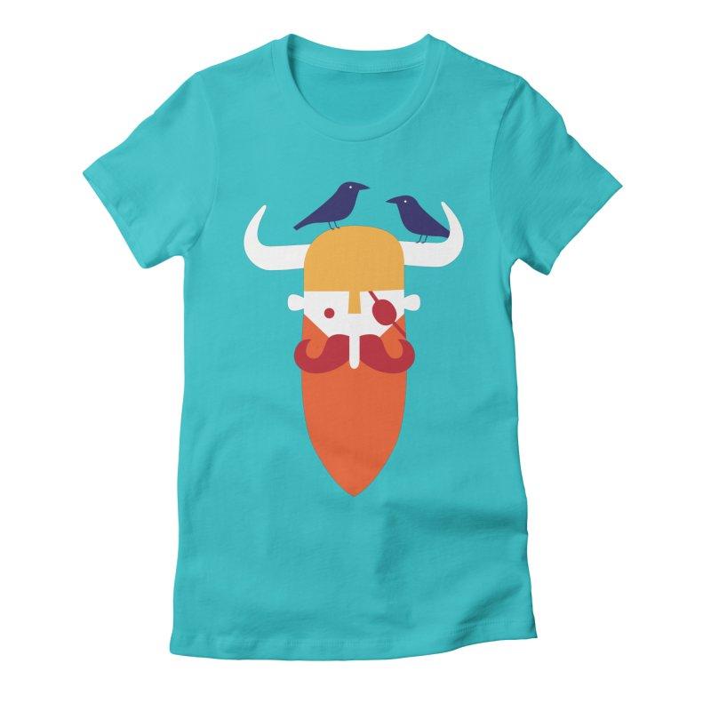 Odin's Beard Women's Fitted T-Shirt by wharton's Artist Shop