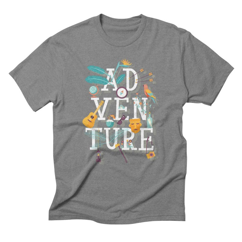 Adventure Men's Triblend T-Shirt by wharton's Artist Shop