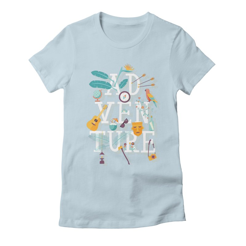 Adventure Women's Fitted T-Shirt by wharton's Artist Shop